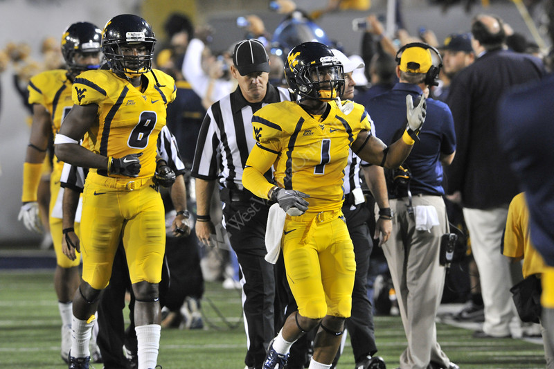 WVU Football vs LSU game action Puskar Stadium evansdale campus , September 2011. (WVU Photo/Greg Ellis)