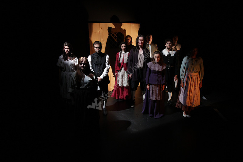 WVU theater students perform scenes for a photocall from The Crucible and Arthur Miller classic at the WVU CAC  evansdale campus, September 2011. (WVU Photo/Mark Brown)