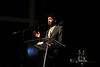 WVU Festival of Ideas lecture and Pulitzer Prize winning author Siddhartha Mukherjee address the WVU community at the WVU CAC Clay theater, September 2011. (WVU Photo/Jake Lambuth)