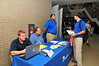 WVU College of Engineering and computer science attend  a job fair at the COMER  building evansdale campus , September 2011.(WVU Photo/Jake Lambuth)
