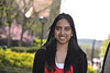 WVU Goldwater Scholar Tonia Ahmed poses for a portrait on the downtown campus, April 2012. (WVU Photo/Brian Persinger)