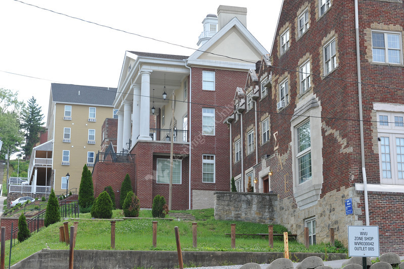 WVU Campus buildings and classroom Evansdale and Downtown campuses April 2012 (WVU Photo/Todd Latocha)