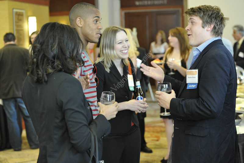 WVU College of Business and Economics students interact with investors and mentors at the B&E Style show Erickson Alumni Center April 2012. (WVU Photo/Greg Ellis)
