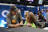 WVU Stem programs representatives participate in educating middle and high school students at the USA Science & Engineering Festival at the Pittsburgh Convention Center Pittsburgh, Pa. April 2012. (WVU Photo/Scott Wilkinson)