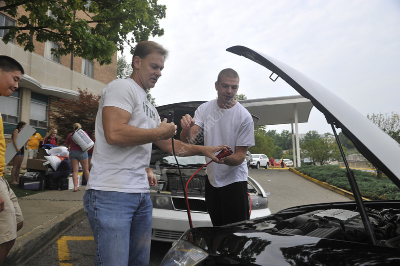 WVU Move In Day Evansdale Campus August 2012 (WVU Photo/Brian Persinger)
