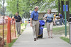 WVU new freshmen and returning students move into their dorms on the Evansdale campus August 2012 (WVU Photo/Greg Ellis)