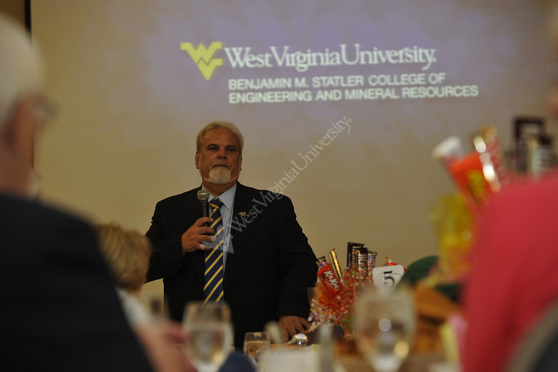 WVU Emeritus professors gather for breakfast  and conversation at the Erikson Alumni Center  August 2102. (WVU Photo/Greg Ellis)