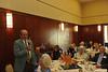 WVU Emeritus professors gather for breakfast  and conversation at the Erikson Alumni Center  August 2102. (WVU Photo/Greg Ellis)