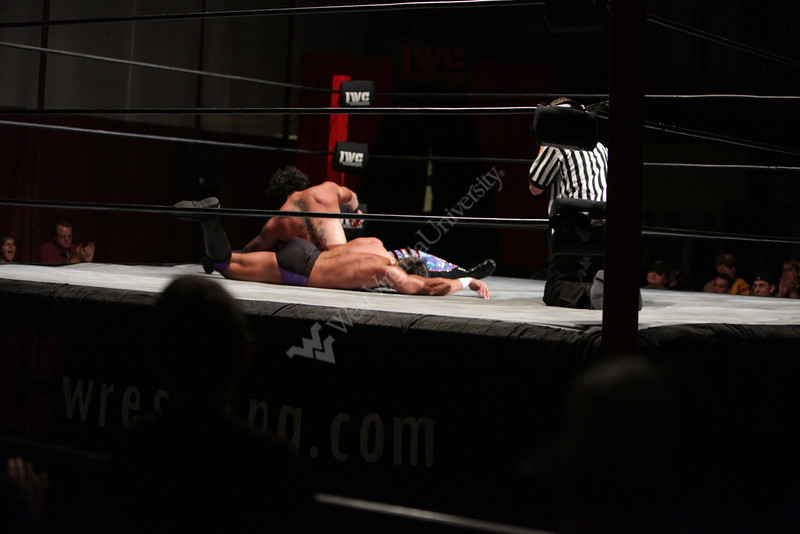 WVU senior Michael Paris pro wrestler and WVU student wrestles in the  TNA under the ring name of Zema Ion. October 2012 (WVU Photo/Mark Brown)