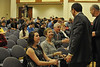 Joe Hardy College of B&E distinguished  lecture  interacts with WVU leadership, faculty and students December 2012 (WVU Photo/Brian Persinger)