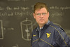 WVU Physics Professor David Miller  poses for an Environmental Portrait December 2012 (WVU Photo/Greg Ellis)