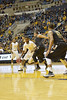 WVU Men's Basketball action vs Oakland December 2012 (WVU Photo/Greg Ellis)