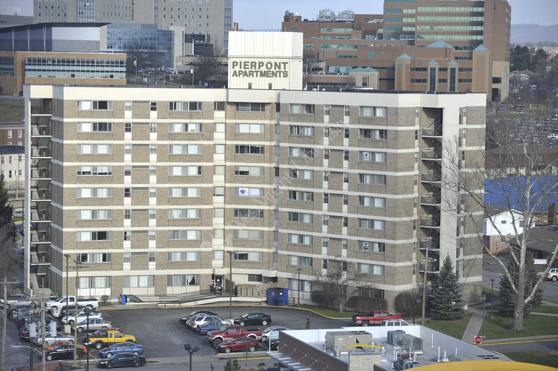 WVU Campus Buildings  evansdale and downtown campus for the WVU VRC redesign, February 2012. (WVU Photo/Brian Persinger)