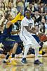 WVU Men's Basketball vs Pitt. Last Big East game Peterson Event Center Pittsburgh, PA. February 2102. (WVU Photo/Greg Ellis)