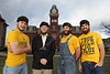 Left to right, Taylor Richmond, B. Jay Hatfield, Daniel Carson and Jonathan Kimble are finalists in the competition to become the next WVU Mountaineer.