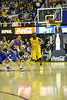 WVU Men's Basketball vs DePaul action  WVU Coliseum, February 2012. (WVU Photo/Greg Ellis)