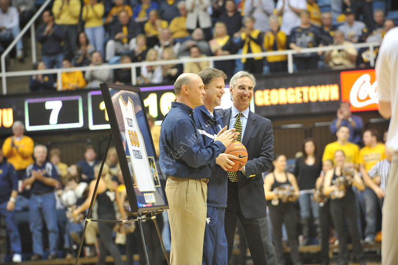 Mens Basketball vs Georgetown 2012, athletics, 26083, Coach Carey, Oliver Luck, Jim Clements, Carey 500 wins
