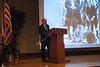 WVU Law professor Charles DiSalvo lectures on Ghandi at the Ghandi-King Lecture during Martin Luther King day celebrations, WVU Mountainlair ballrooms, January 2012. (WVU Photo Greg Ellis)