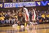 28082 WVU Men's Basketball vs Rutgers action WVu Coliseum January 2012 (WVU Photo/Jake Lambuth)