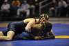 WVU Wrestling  vs Clarion action at the WVU Coliseum, January 2012. (WVU Photo)
