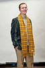 WVU University Relations staff pose for photos wearing WVU Tartan Plaid scarfs at the OWF studio, January 2012. (WVU Photo/Chris Schwer)