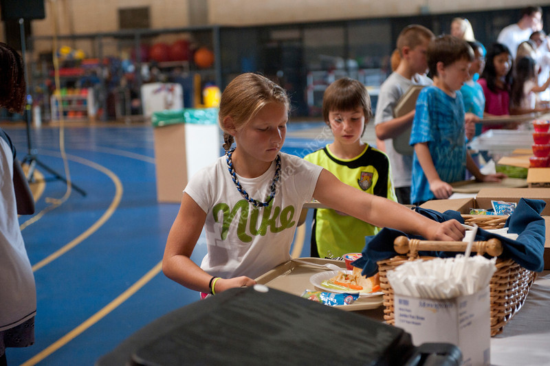WV youth take part in the WVU CPASS National Youth Sports Program 25th Anniversary at the WVU Shell building Evansdale campus. July 2012 (WVU Photo/Jake Lambuth)