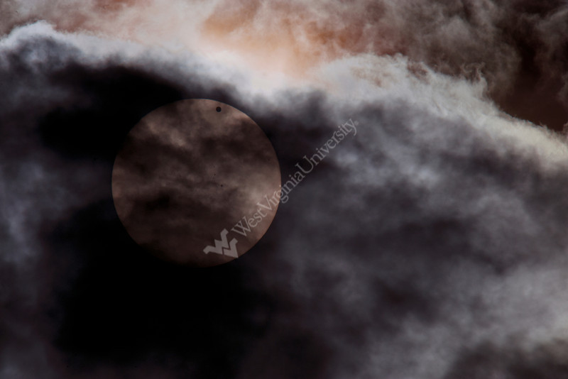 The planet Venus photographed over Morgantown WV is seen Eclipsing the Sun June 2012 (WVU Photo/Brian Persinger)