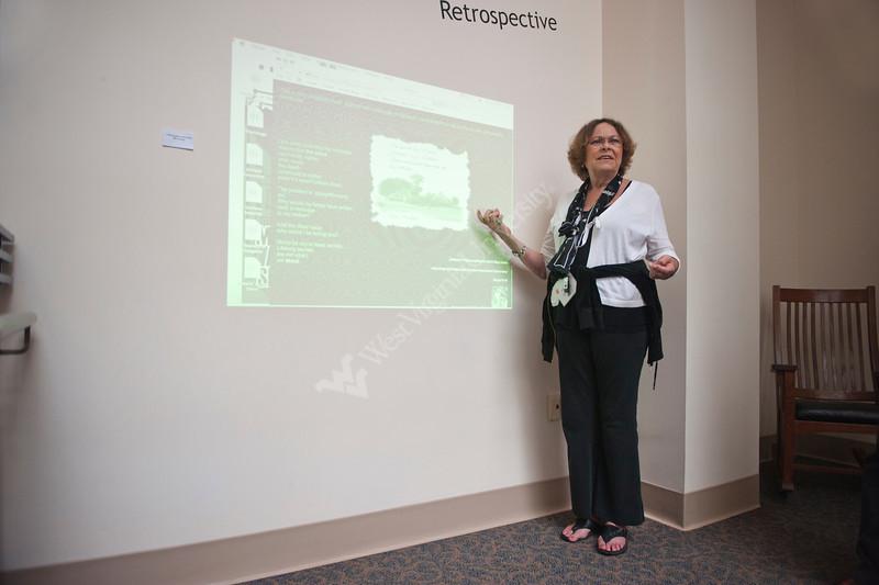 28390 WVU Library Electronic Literature presentation at the WVU downtown library June 2012. (WVU Photo/Jake Lambuth)