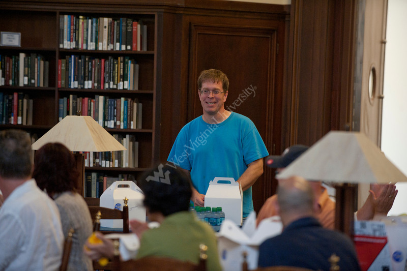 28390 WVU Library Electronic Literature presentation at the WVU downtown library June 2012. (WVU Photo/Jake Lambuth)
