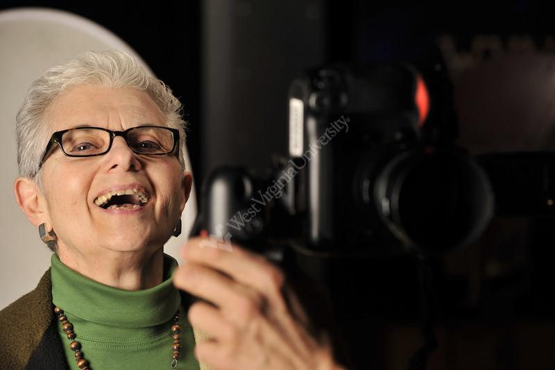 WVU Professor of Women's Studies Judith Stitzel pose a portrait WVU Alumni Magazine, March 2012. (WVU Photo/Brian Persinger)