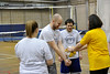 WVU CPASS students participate in the  PETE , Physical Education Teacher Education Volleyball Class, WVU Shell Building Evansdale campus March 2012. (WVU Photo : Greg Ellis: