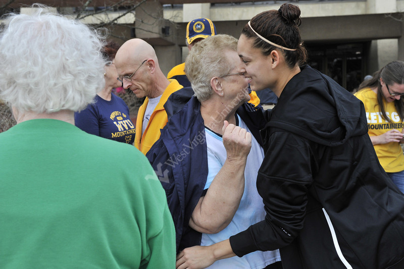 The WVU Women's NCAA Basketball team participation in the 2012 1st and 2nd Rounds, March 2012. (WVU Photo/Greg Ellis)