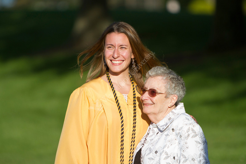 Theresa Joslin poses for a picture with her grandmother Sylvia Hilty after the 2012 Honors Convocation at the Creative Arts Center.