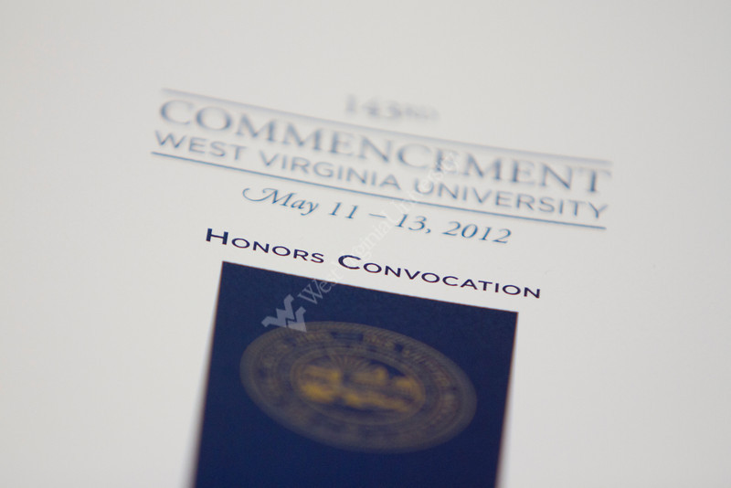 A program for the 2012 honors convocation.