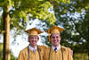 Ryan Keller, left, and friend Ryne Eich, right, pose for a picture after graduating at the 2012 Honors Convocation. Keller and Eich, both from Cross Lakes, have been friends since they were four years old.