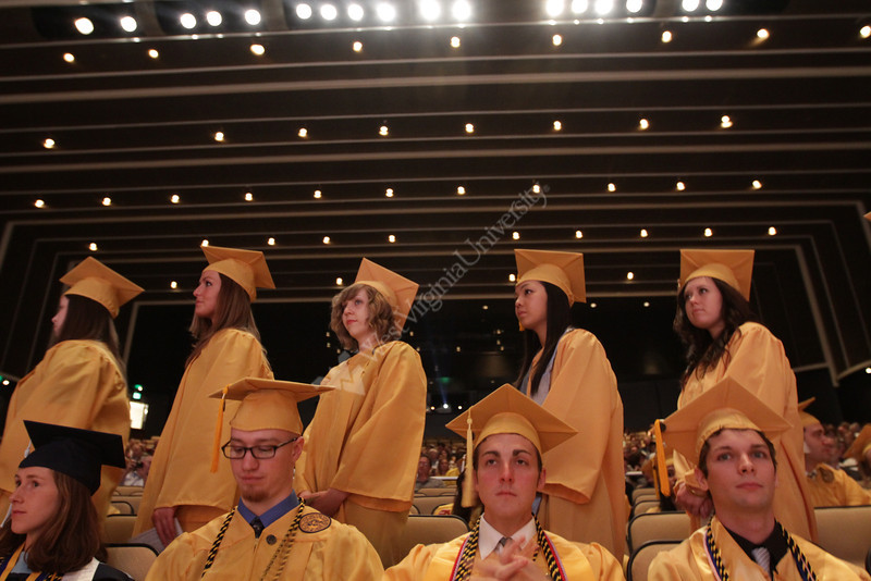 WVU Honors College members take plat in their Convocation at the CAC May 2012. (WVU Photo/Mark Brown)