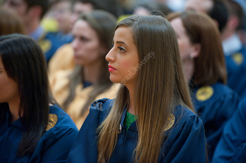 WVU Eblery College students participate in  WVU's Phi Beta Kappa induction. Phi Beta Kappa is the United States's most prestigious academic honor society and its oldest Greek letter organization. (WVU Photo/Jake Lambuth)