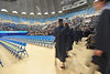 WVU Davis College graduates take part in their commencement at the WVU Coliseum May 2012. (WVU Photo/Allison Toffle)