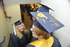 WVU Eberly College graduates take part in their  Commencement at the WVU Coliseum May 2012. (WVU Photo/Brian Persinger)