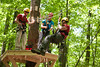 WVU students enjoy the WVU Zipline Canopy tour at the WVU forest developing May 2012 (WVU Photo/Jake Lambuth)