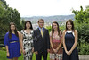 The new WVU Foundation Scholars walk across the law at Blaney House Evansdale campus for a photo. May 2012 (WVU Photo/Greg Ellis)