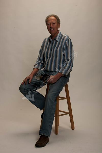 Dr. John Jett poses for a Portrait at the OWF studio November 2012 (WVU Photo/Brian Persinger)