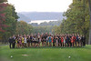 The WVU Women's and Men's Swimming Team pose for photos at Cheat Lake October 2012 (WVU Photo/Allison Toffle)