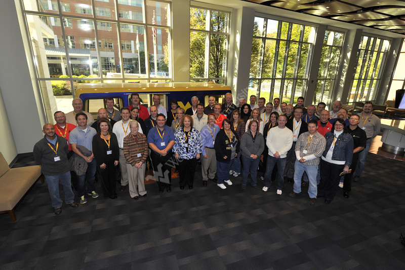 Members of MCPA pose for a photo at their  Conference at the WVU visitor center OWF place October 2012 (WVU Photo/Brian Persinger)