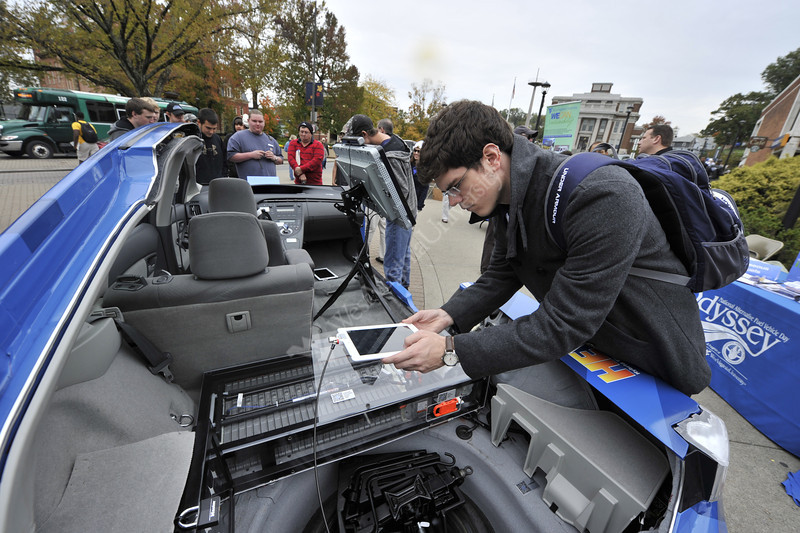 WVU Statler College takes part in the  Alternative Fuel Odyssey Day October 2012 (WVU Photo/Brian Persinger)