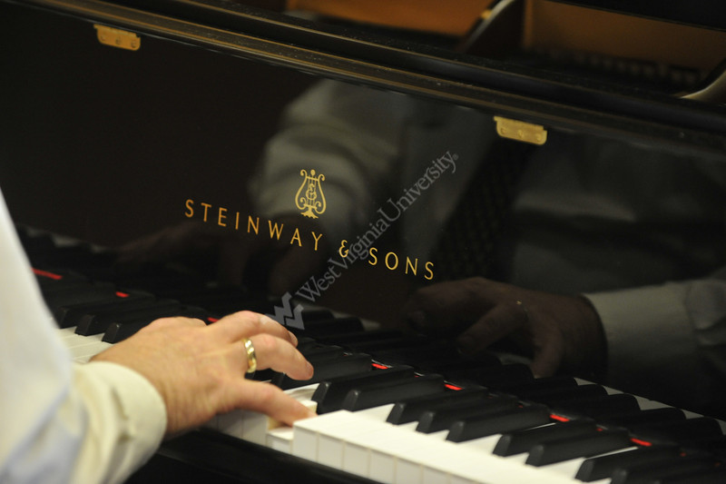 WVU's first Steinway Grand Piano is delivered to the WVU CAC October 2012 (WVU Photo/Brian Persinger)