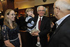 Robert Maust  WVU College of B&E greets guests at his Retirement Reception October 2012 (WVU Photo/Greg Ellis)
