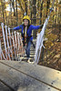 WVU students take a Zip Line Canopy Tour at the WVU Forest October 2012. (WVU Photo/ Greg Ellis)