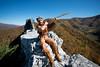 WVU Mountaineer Jonathan Kimble poses for photo at Seneca Rocks October 2012 (WVU Photo)