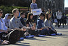 WVU students take part in the Meditation Mob Mountainlair October 2012 (WVU Photo/Greg Ellis)